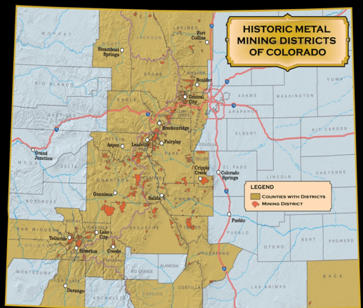 Historic metal mining districts
