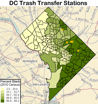 Map of DC