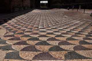 Mosaic flooring in the Baths of Caracalla, Rome