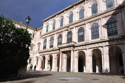 Palazzo Barberini, an art gallery in the heart of Rome, Italy