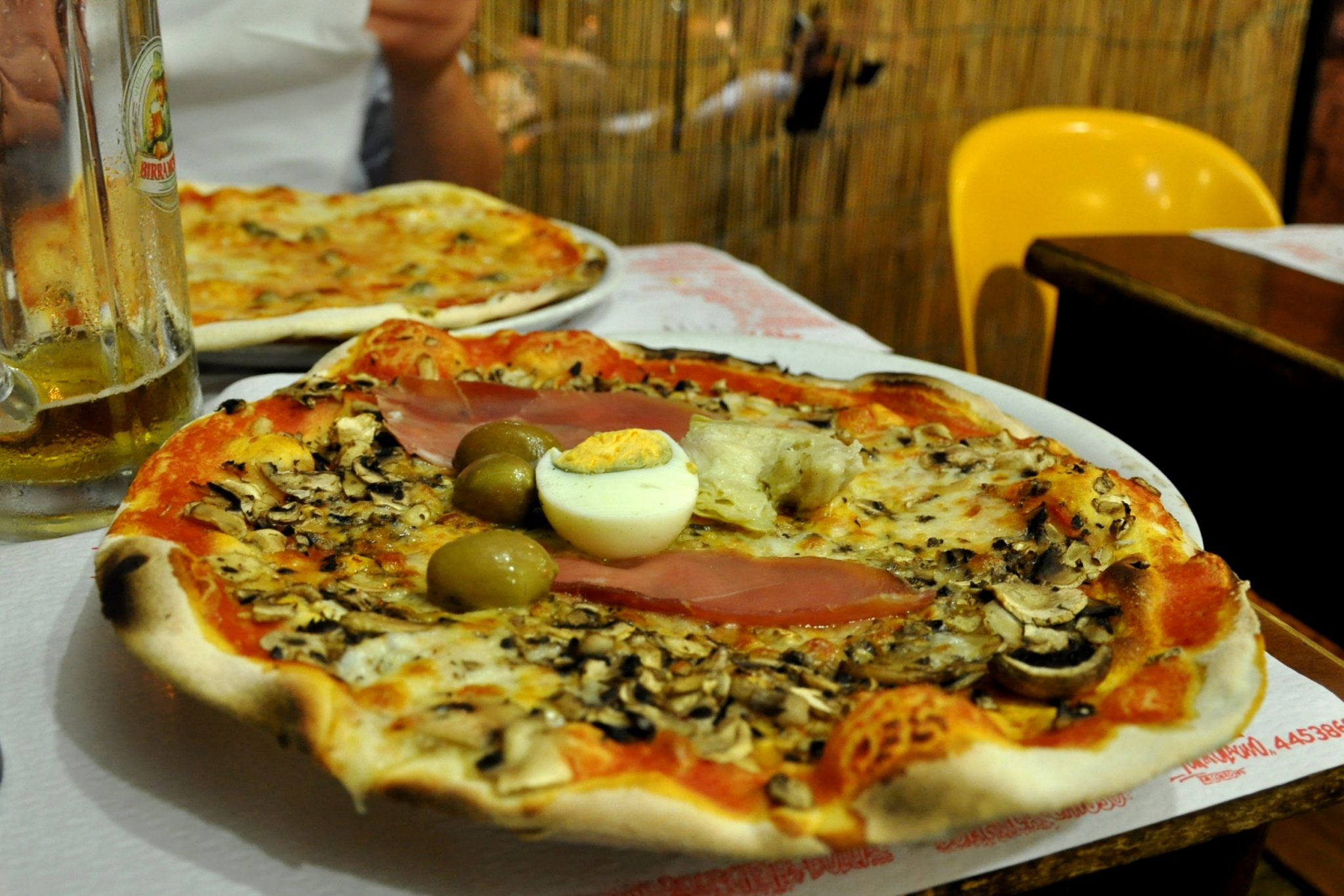 If you do your research, you can have pizza like this. Formula Uno, Rome