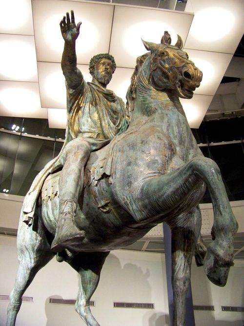 Ancient statue of Marcus Aurelius in the Capitoline Museums - which will be free September 26.