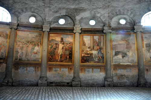 Scenes of martyrdom at Santo Stefano in Rotondo.