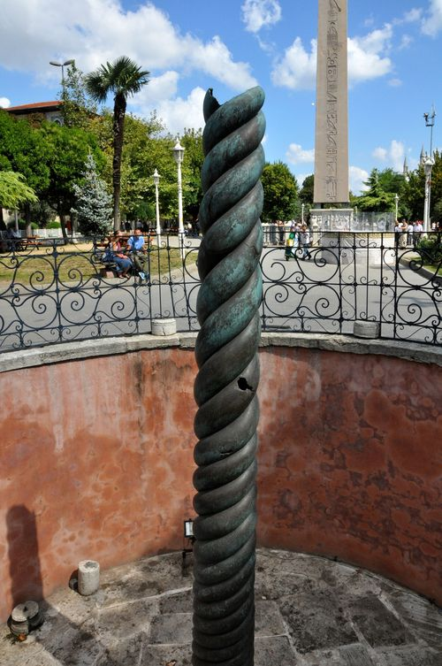 Serpent Column with the Obelisk of Theodosius in the background, Istanbul