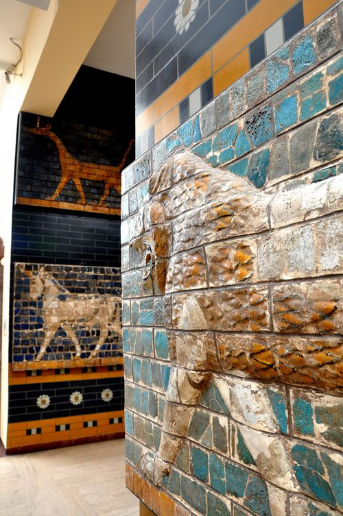 Reliefs from the Ishtar Gate, Babylon, in the Archaeological Museum of Istanbul
