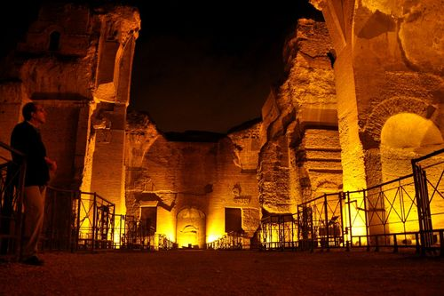 Baths of Caracalla, Rome, at night