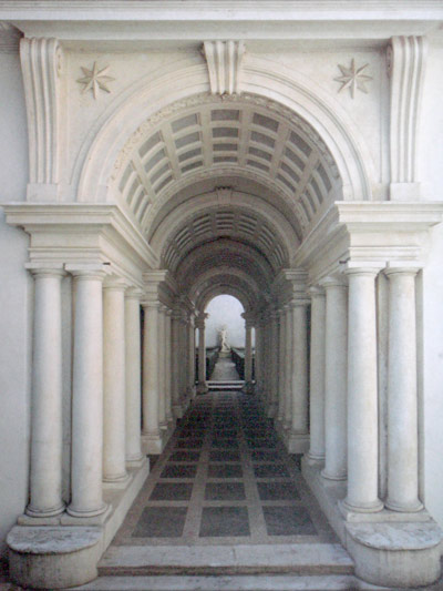Borromini's perspective in Galleria Spada, Rome