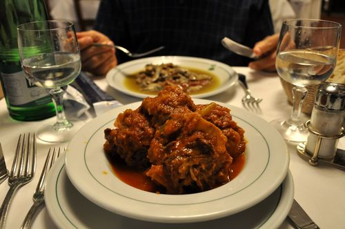 Oxtail at La Campana, near Piazza Navona, Rome