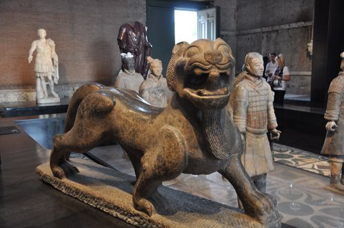 Ancient Chinese sculpture in the Roman Curia, Rome