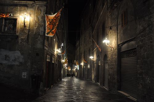 Siena at night, Tuscany, Italy