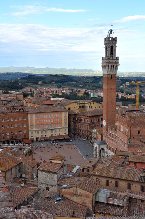 View of the Piazza del Campo, Siena, Tuscany