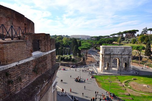 View from the Colosseum's newly-opened third level