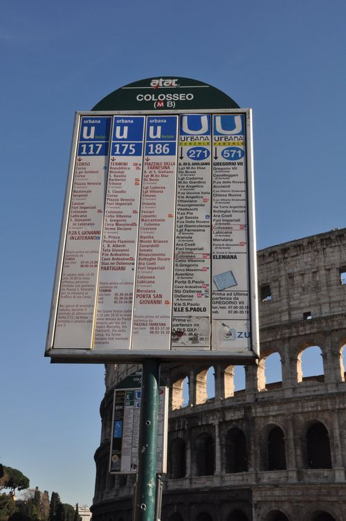 Bus stop sign, Rome