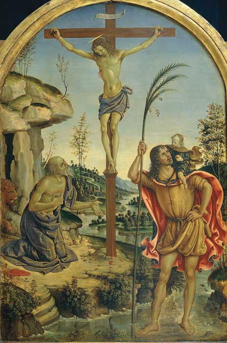 Crucifixion, Pinturrichio, in the permanent Borghese collection