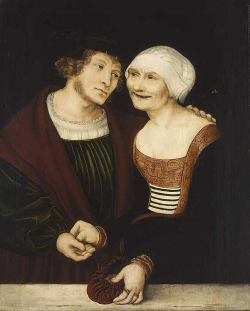 """Ill-Assorted Couple"" by Cranach, at the Borghese exhibit"