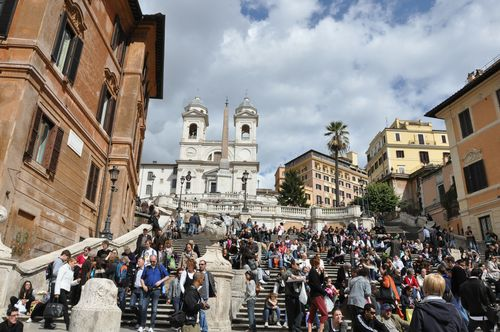 The Spanish Steps -- site of many a tourist scam