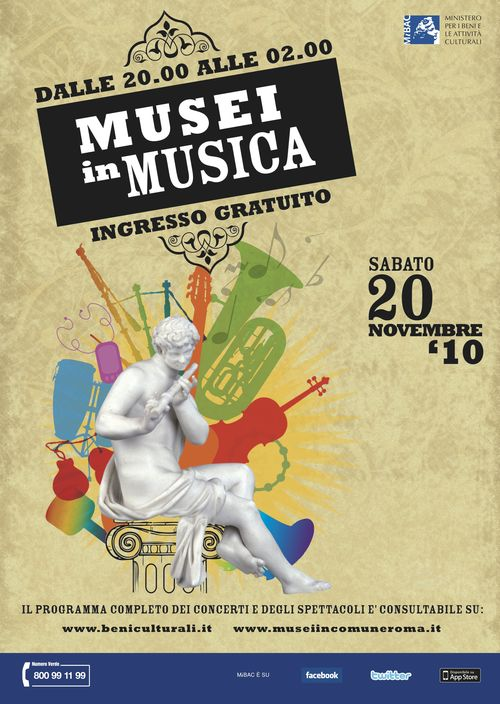Museums in Music ad from Beniculturali, Italy