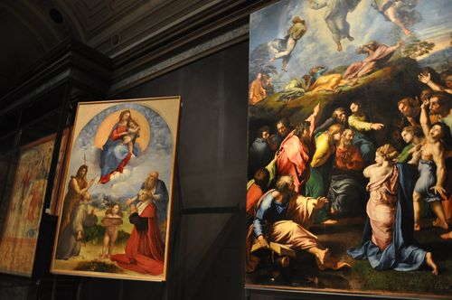 Raphael's paintings at the Pinacoteca, Vatican museums, Rome