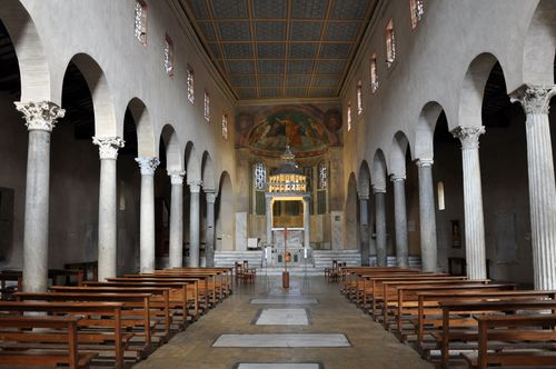 Interior of St. George in Velabro, Forum Boarium, Rome