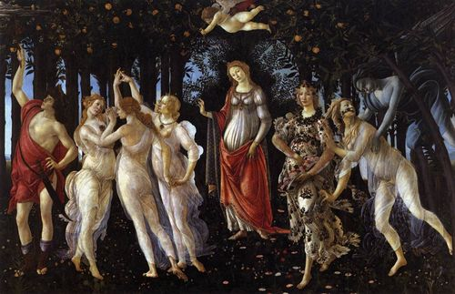 Primavera by Botticelli, in Florence