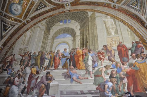 School of Athens by Raphael in the Vatican museums