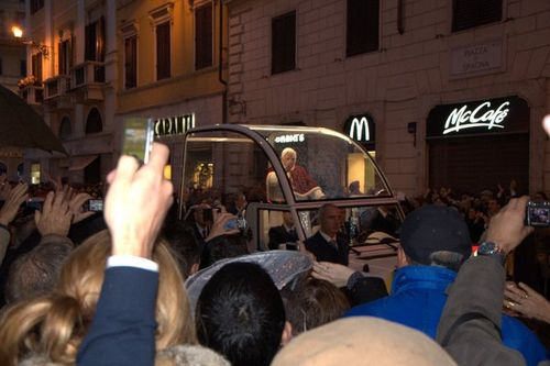 Pope Benedict XVI at the Feast of the Immaculate Conception, Spanish Steps, Rome
