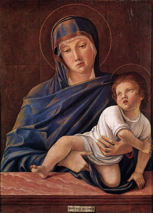 Bellini's Madonna and Child, currently at Rome's I Grandi Veneti exhibit