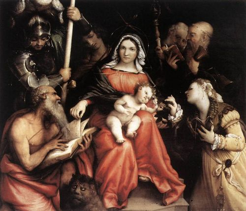 Lorenzo Lotto, Mystical Marriage of St. Catherine, at I Grandi Veneti in Rome
