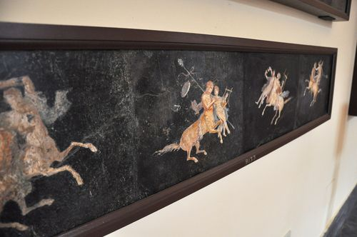 Ancient Roman frescoes, National Archaeological Museum, Naples, Italy