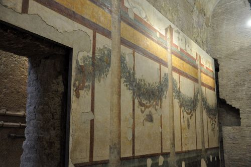 Ancient frescoes from the House of Livia, Palatine, Rome
