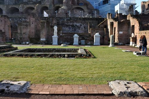 House of the Vestal Virgins, courtyard, Rome, forum