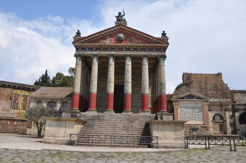 "Part of the ""forum"" of the film set for Rome, Cinecitta"