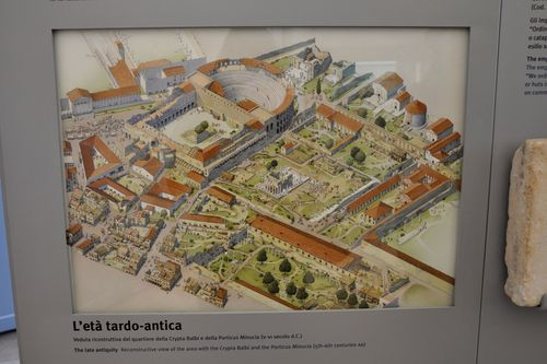 Map of Crypta Balbi and ancient Rome in Museo Nazionale Romano