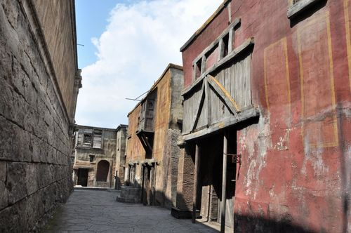 """The """"Suburra"""" from the film set for Rome at Cinecitta studios"""