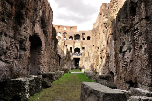 Underground of the Colosseum, now open through July