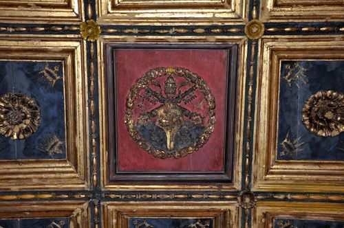 The Borgia family crest, in the Vatican