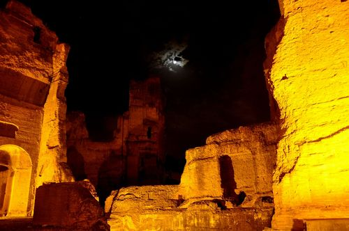 Baths of Caracalla at night