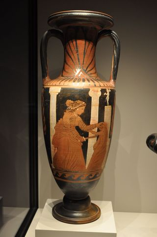 Ancient vase from the Getty Villa, California