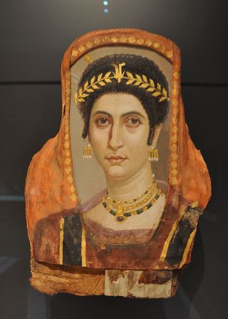 Ancient Roman portrait in the Getty Villa in California