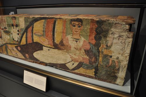 Painted coffin, ancient Roman-Egyptian, in the Villa Malibu