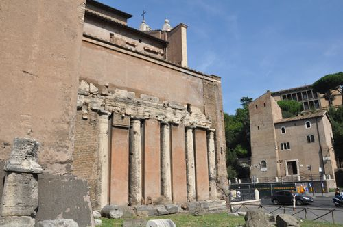 San Nicola in Carcere, with ancient ruins, in Rome