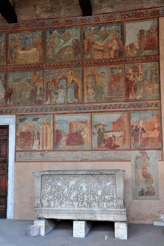 San Lorenzi Fuori le Mura frescoes, a great church in Rome