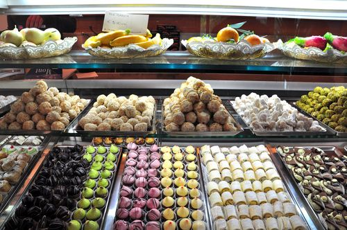 Pastries at Sicilia e Duci, a bakery in Testaccio, Rome