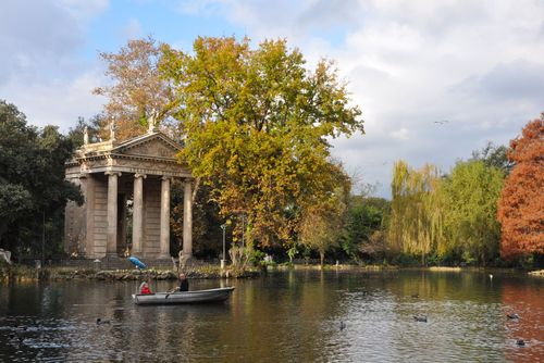 Villa Borghese, near Parioli, which you can get to on the number 3 bus