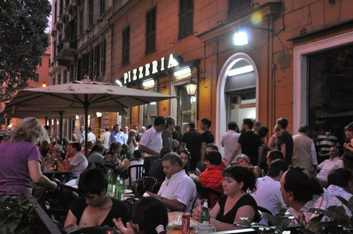 Pizzeria Ai Marmi in Trastevere, easy to get to on the 3 bus