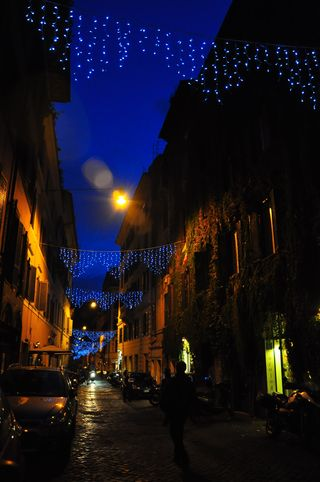 Christmas lights in Monti, Rome