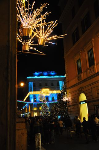 Christmas lights in Rome for the holidays