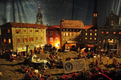 Presepio or nativity scene in Rome