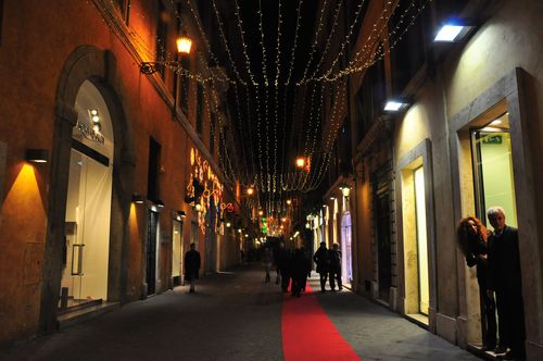 Spanish Steps decorated for Christmas in Rome