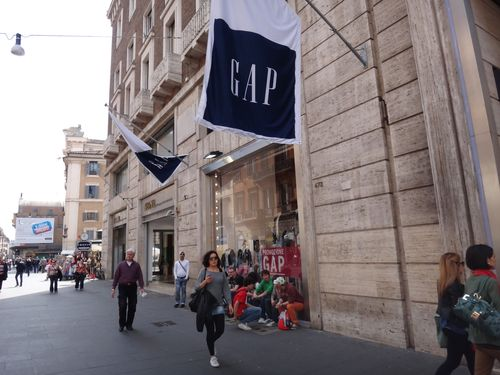 The GAP, a chain store in Rome